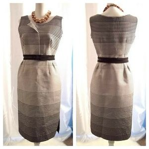 Lida Baday Degrade Jacquard Sleeveless Dress sz 6